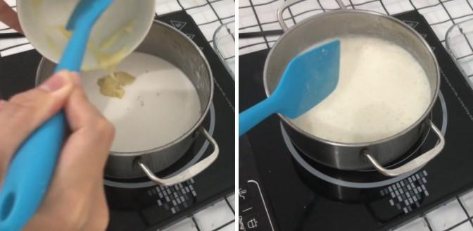 cách làm rau câu nước cốt dừa cà phê 3