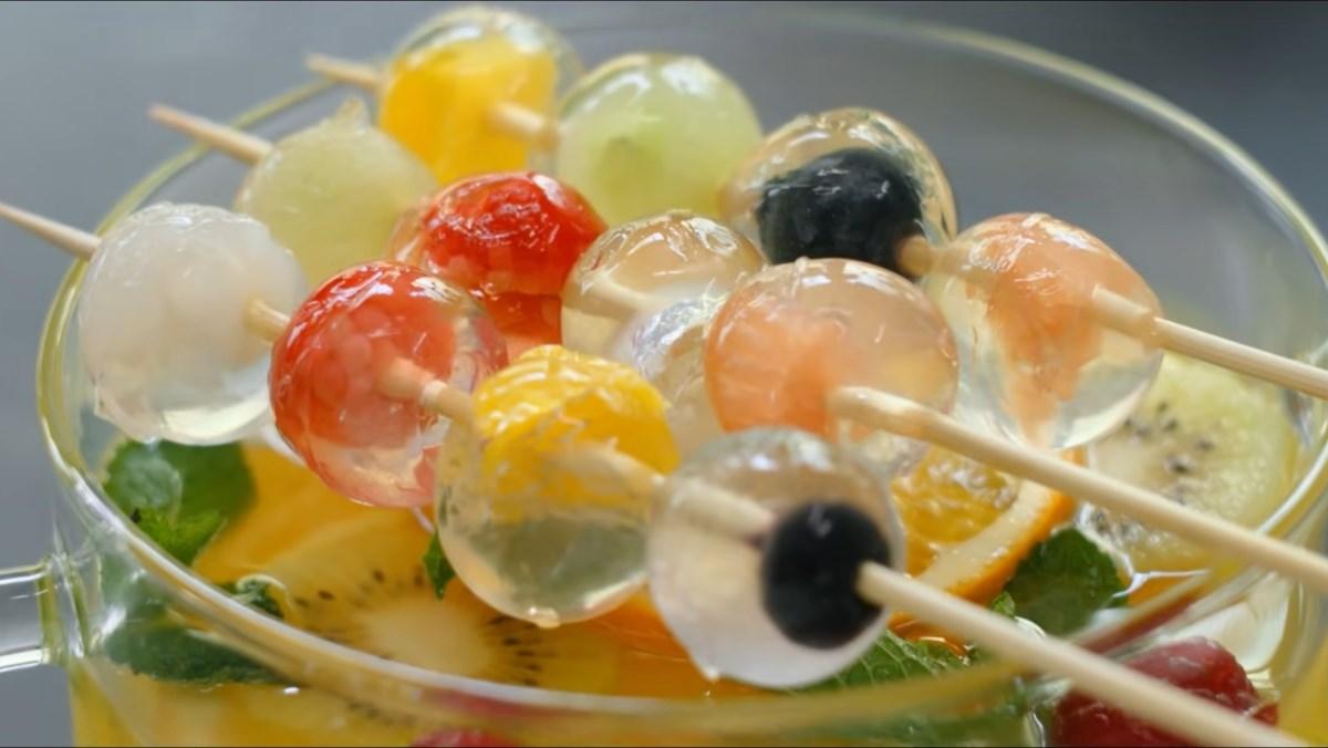 cách làm rau câu trái cây 1