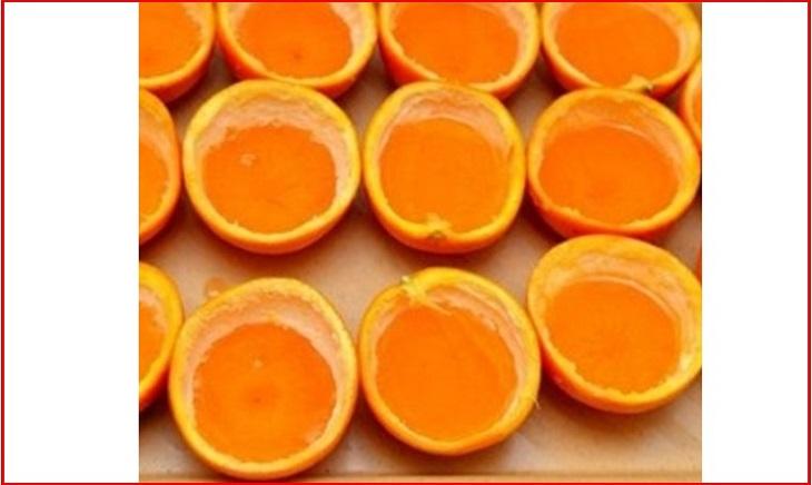 cách làm rau câu trái cây với cam dẻo 2 tầng 4