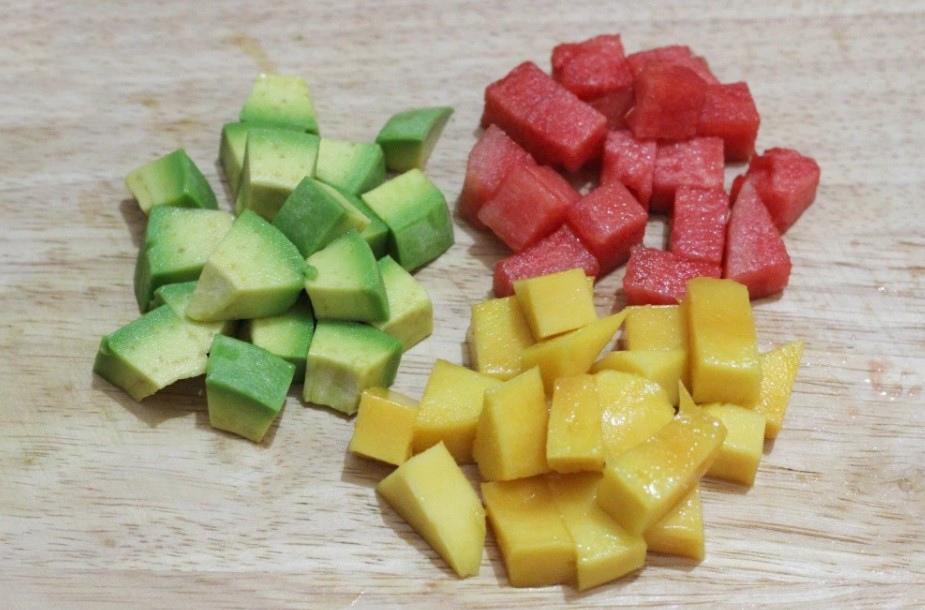 cách làm rau câu trái cây viên 1