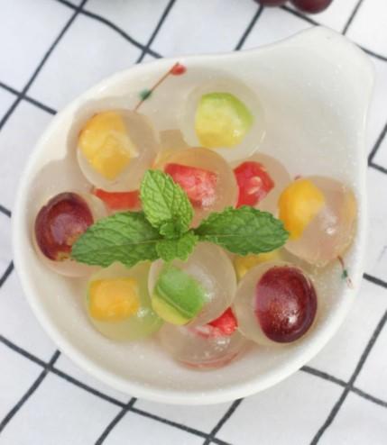 cách làm rau câu trái cây viên 6