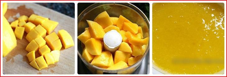 cách làm rau câu trái cây với xoài 3
