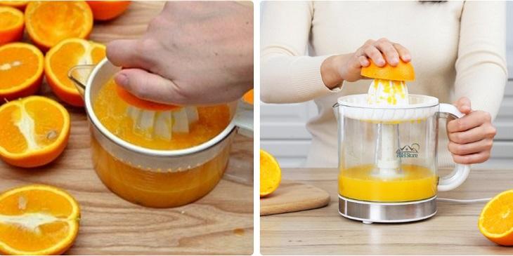cách làm rau câu trái cây với cam dẻo 2 tầng 2