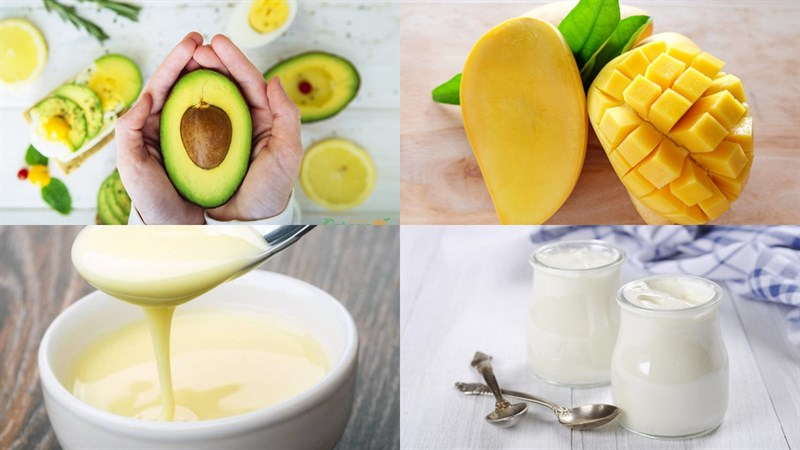 cách làm sinh tố bơ xoài 1