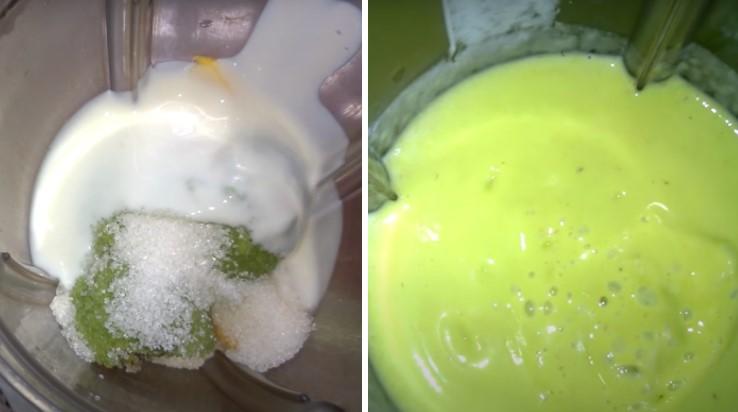 cách làm sinh tố bơ xoài 3