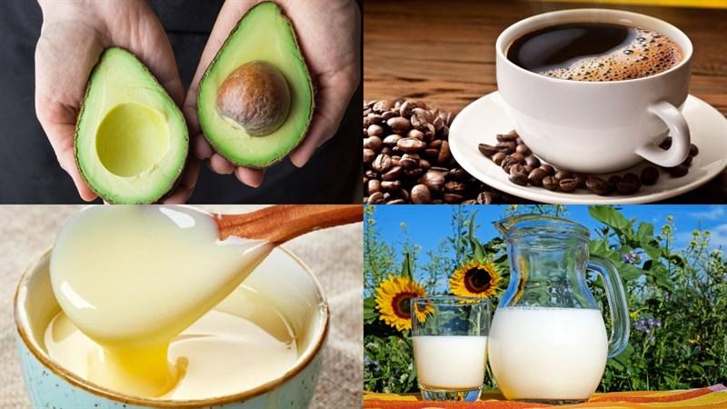 cách làm sinh tố bơ cà phê 1