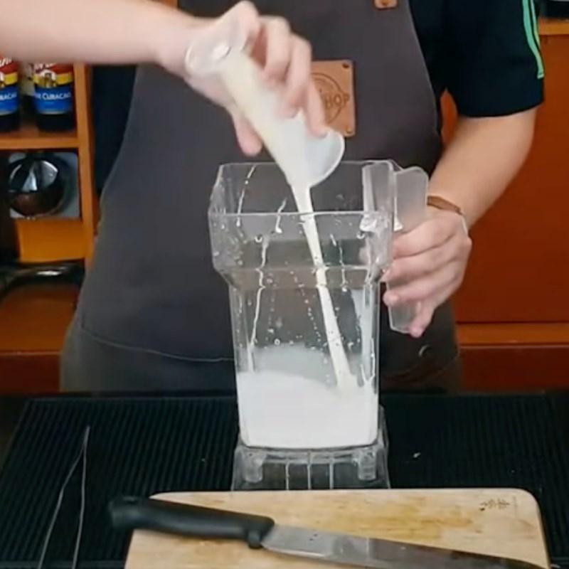 cách làm sinh tố bơ cà phê 3