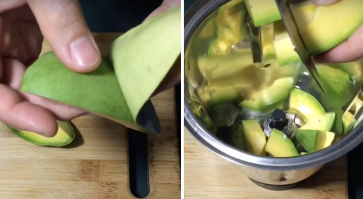 cách làm sinh tố bơ sữa chua 2