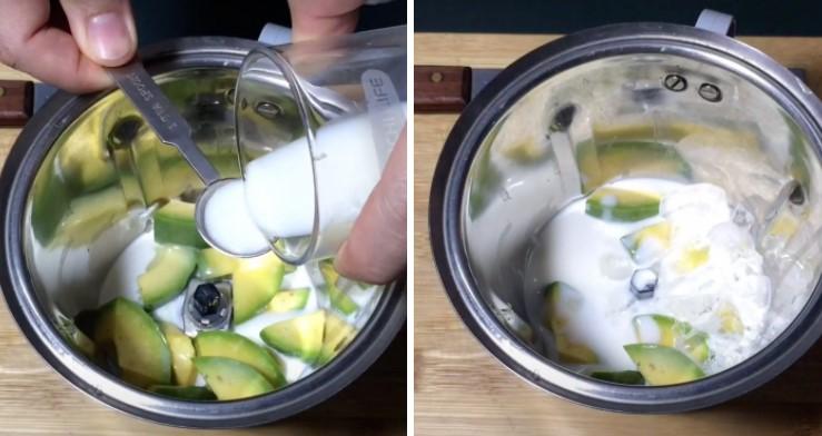 cách làm sinh tố bơ sữa chua 3