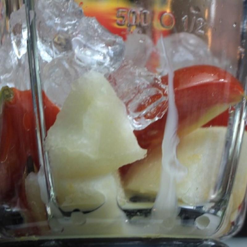 cách làm sinh tố cà chua lê 4