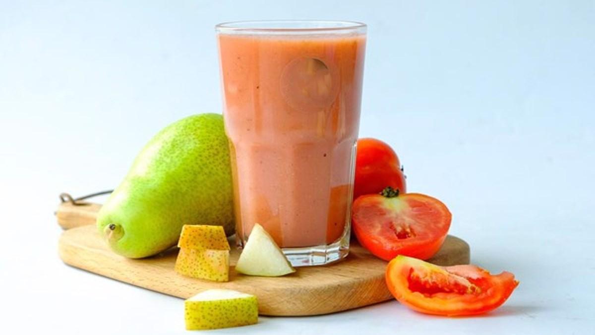 cách làm sinh tố cà chua lê 5