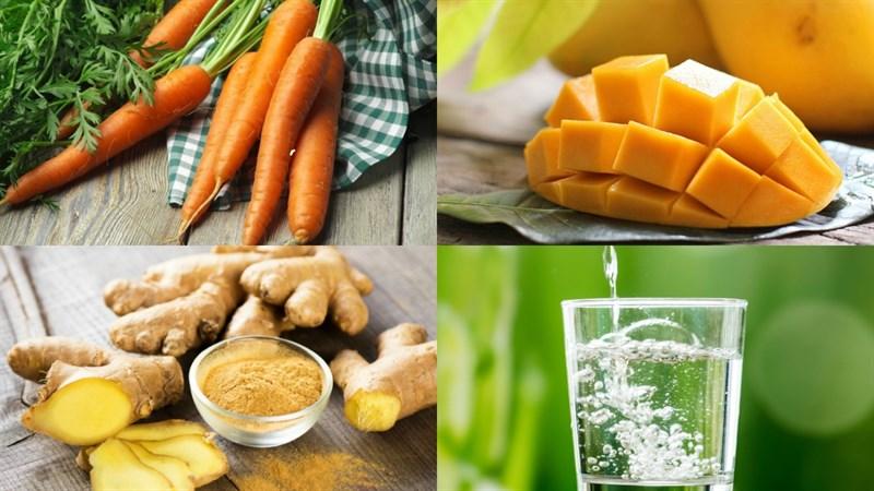 cách làm sinh tố cà rốt xoài 1