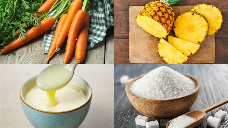 cách làm sinh tố cà rốt dứa 1