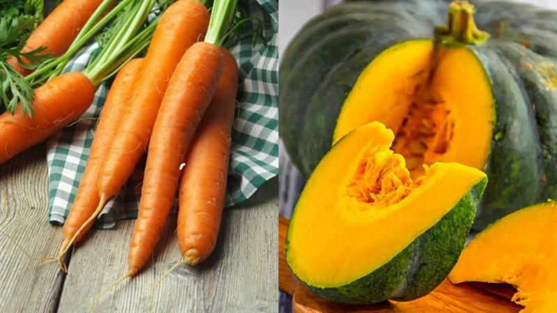 cách làm sinh tố cà rốt bí đỏ 1