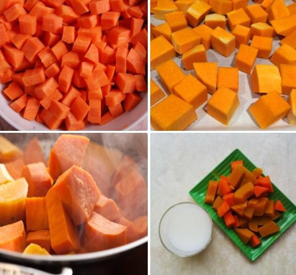 cách làm sinh tố cà rốt bí đỏ 2