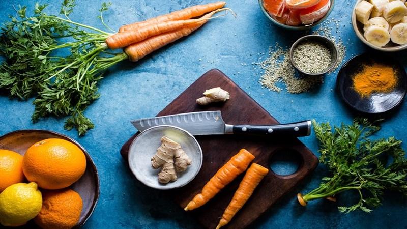 cách làm sinh tố cà rốt quýt 1