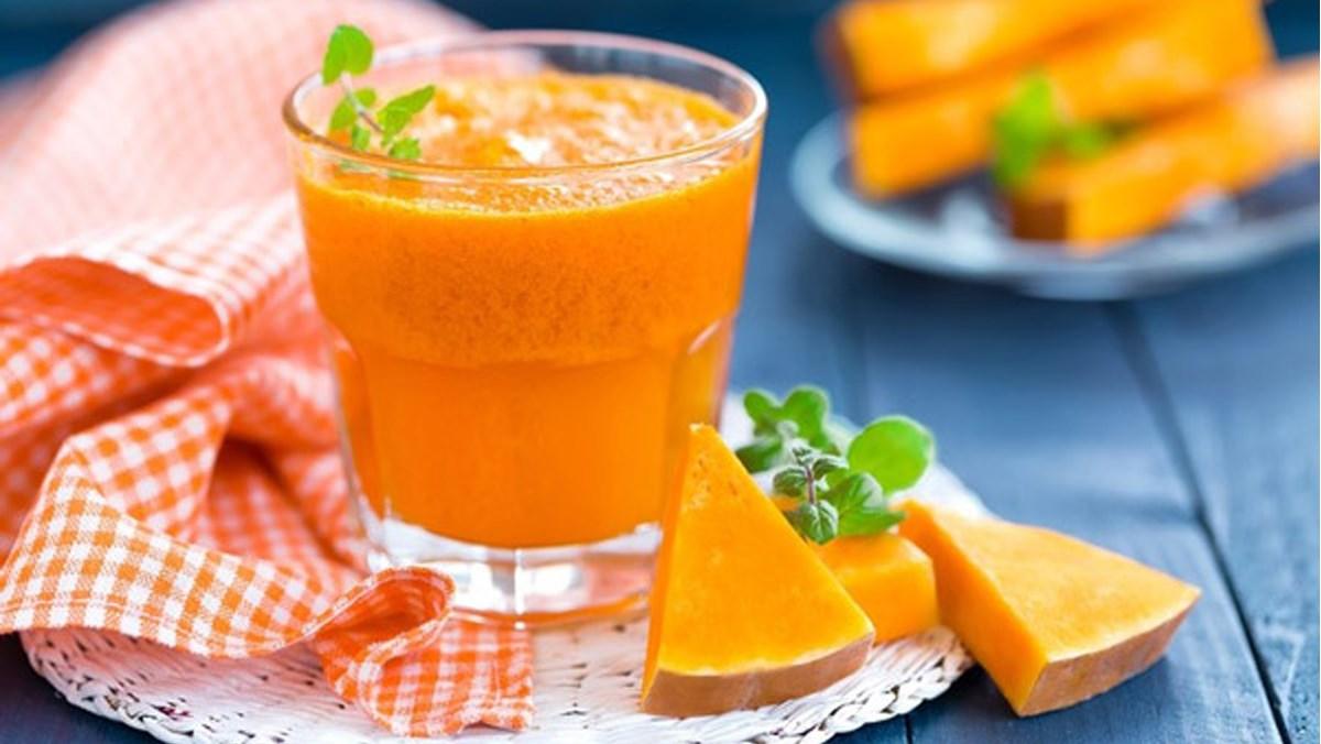 cách làm sinh tố cà rốt bí đỏ 4