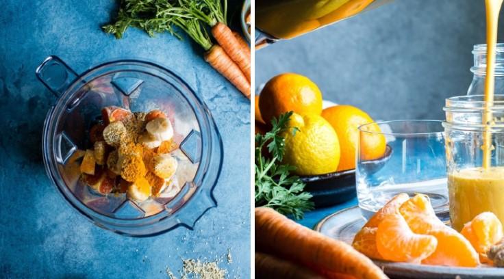 cách làm sinh tố cà rốt quýt 3
