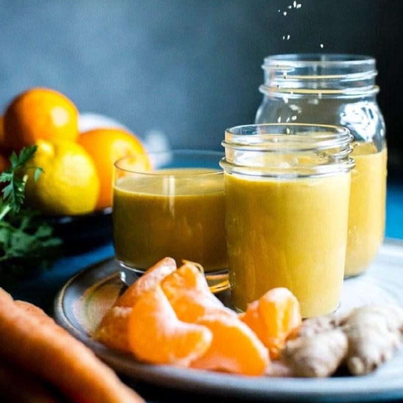 cách làm sinh tố cà rốt quýt 4