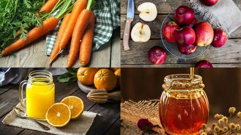 cách làm sinh tố cà rốt táo 1