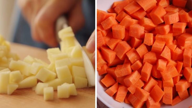 cách làm sinh tố cà rốt táo 2