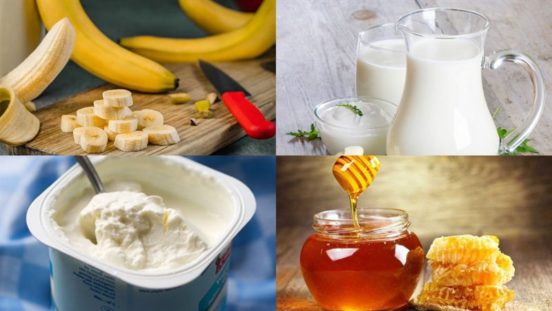 cách làm sinh tố chuối sữa chua 1