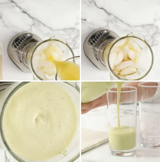 cách làm sinh tố chuối bơ 3