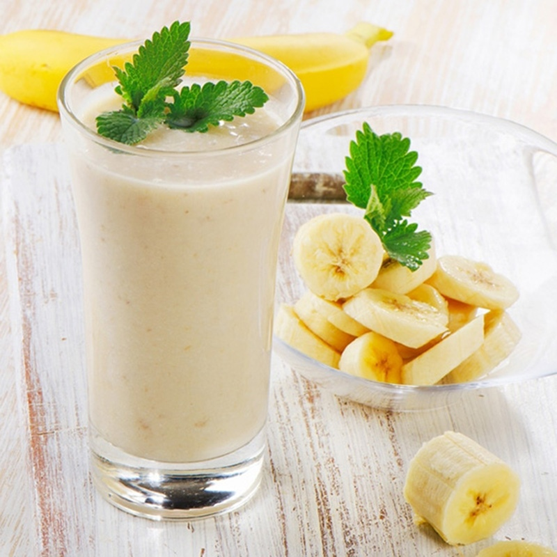cách làm sinh tố chuối sữa chua 4