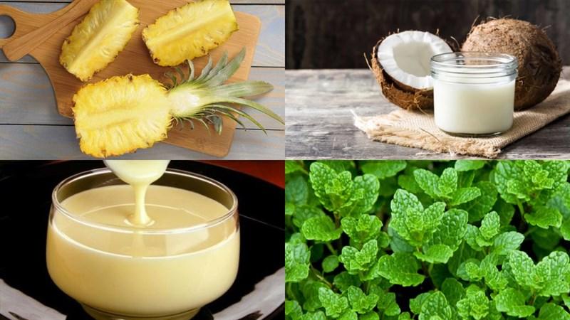 cách làm sinh tố dứa sữa dừa 1