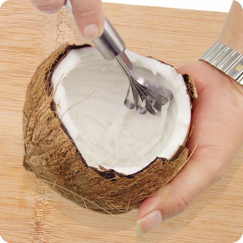 cách làm sinh tố dừa sữa đặc 1