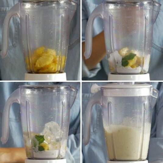cách làm sinh tố dứa sữa dừa 3