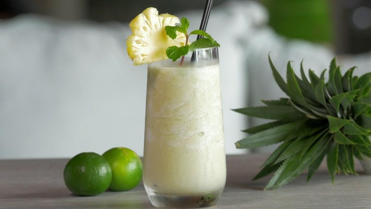 cách làm sinh tố dứa sữa dừa 4