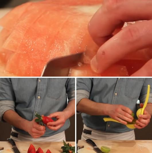 cách làm sinh tố dưa hấu dâu tây 2