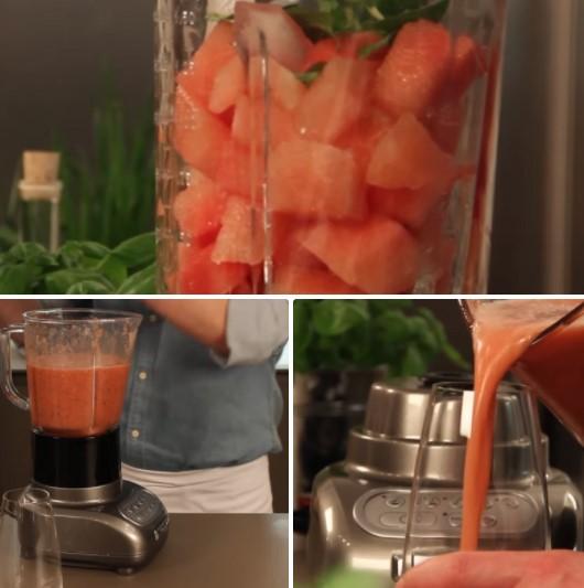 cách làm sinh tố dưa hấu dâu tây 3
