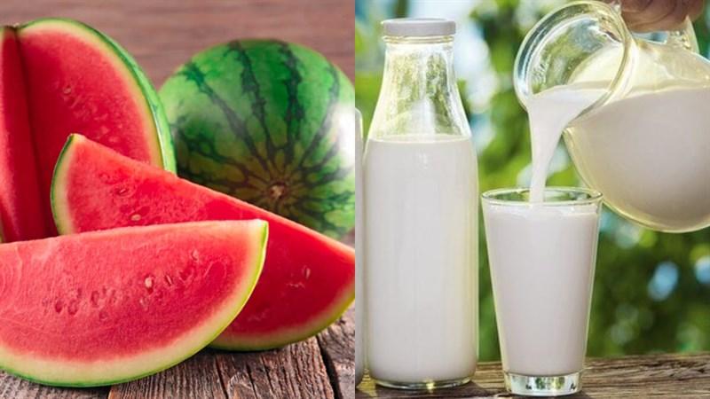 cách làm sinh tố dưa hấu sữa tươi 1