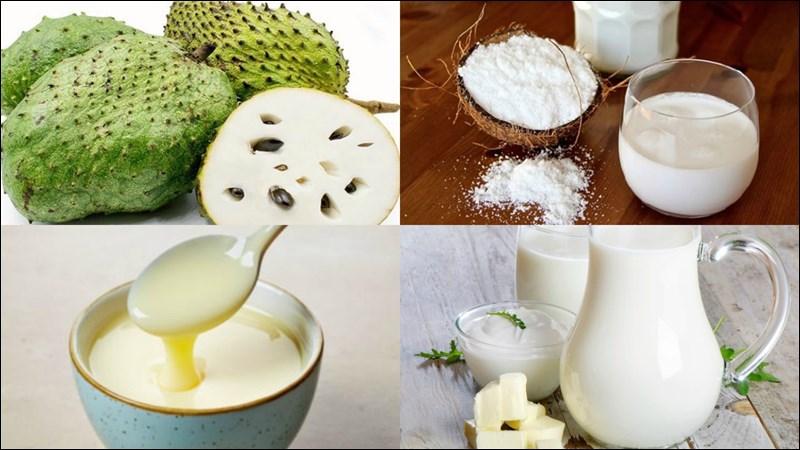 cách làm sinh tố mãng cầu sữa tươi 1