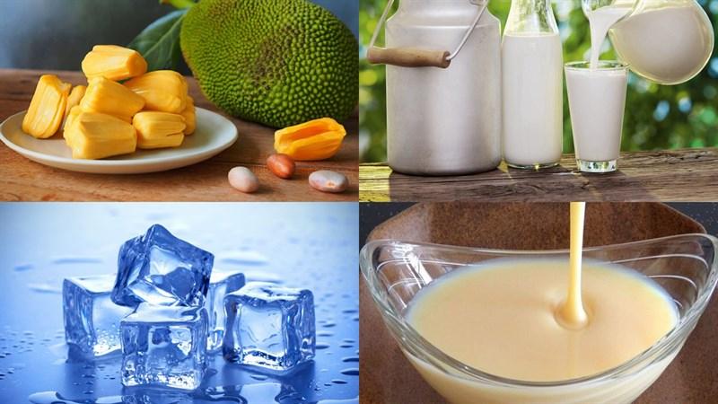cách làm sinh tố mít sữa tươi 1