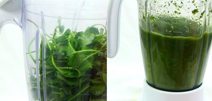 cách làm sinh tố rau má đậu xanh 3