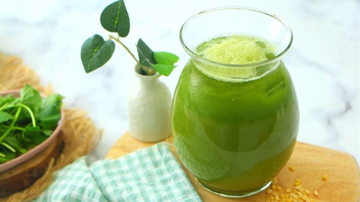 cách làm sinh tố rau má đậu xanh 4