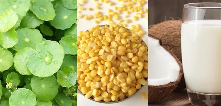 cách làm sinh tố rau má đậu xanh sữa dừa 1