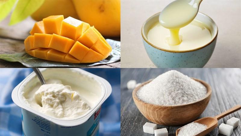 cách làm sinh tố xoài sữa chua 1