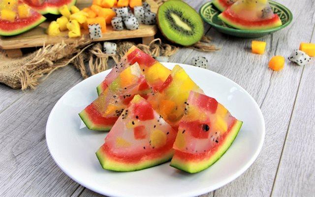 cách làm thạch hoa quả 1