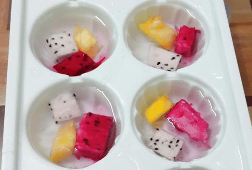 cách làm thạch hoa quả ngũ sắc 2