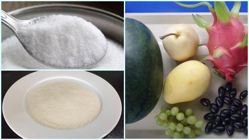 cách làm thạch rau hoa quả 2