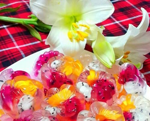 cách làm thạch hoa quả ngũ sắc 4