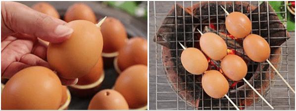Cách làm trứng gà nướng không bị trào 4