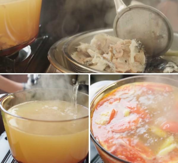 cách nấu bún chả cá 9