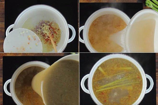 cách nấu bún mắm chả thác lác 6