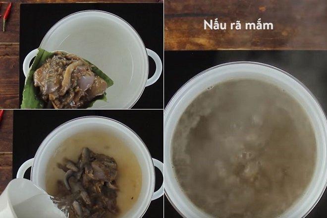 cách nấu bún mắm chả thác lác 1