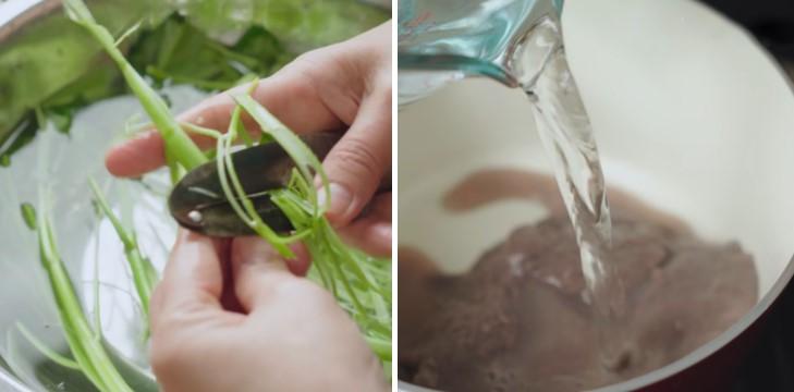 cách nấu bún riêu cua đồng với gạch cua đóng hộp 4